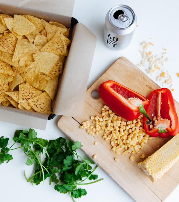 Beer & cheese baked nachos