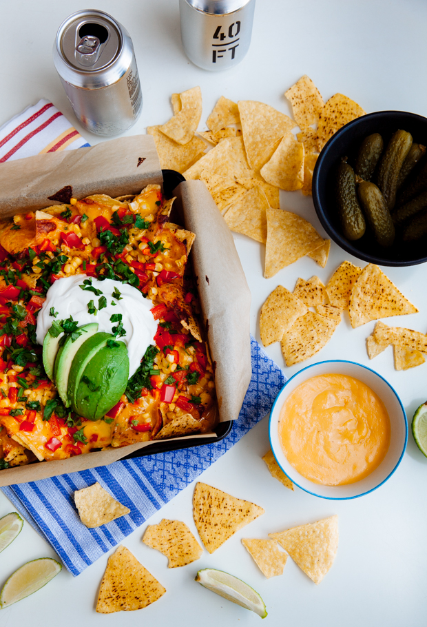 Beer & cheese baked nachos-4