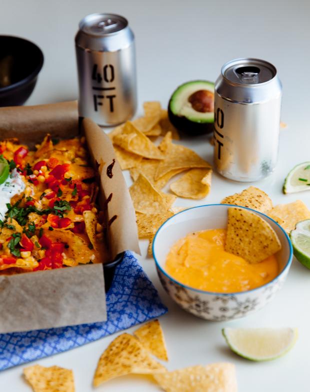 Beer & cheese baked nachos-7