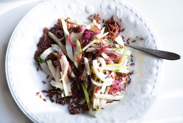 Fennel & green apple wild rice salad