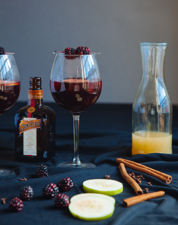 Blackberry Cointreau mulled wine