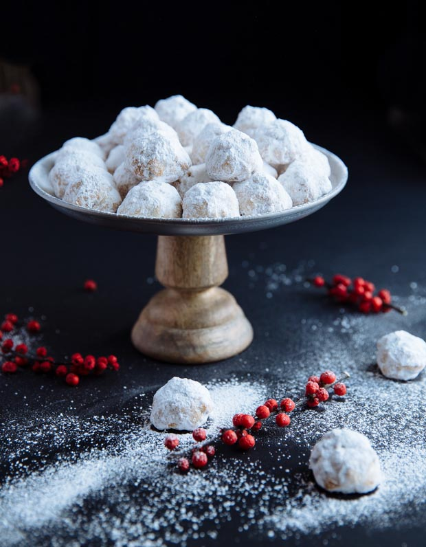 buttery nutty greek christmas cookies kourampiedes - Greek Christmas Cookies