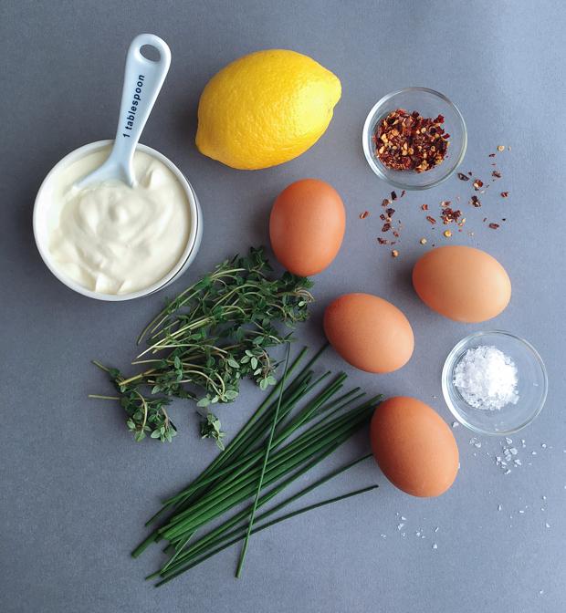 Lemony & spicy eggs en cocotte