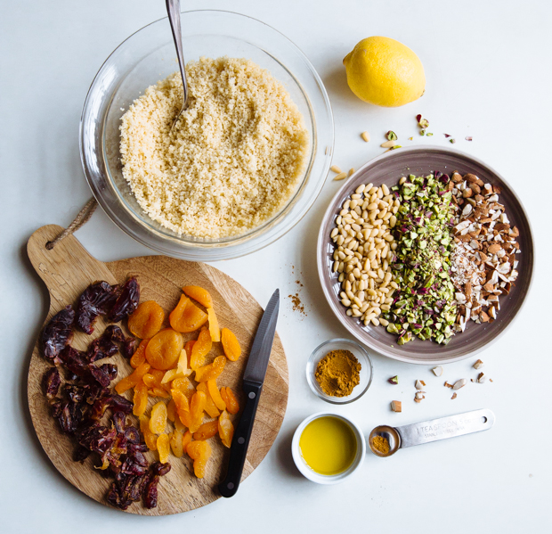 Spicy fruit & nut couscous