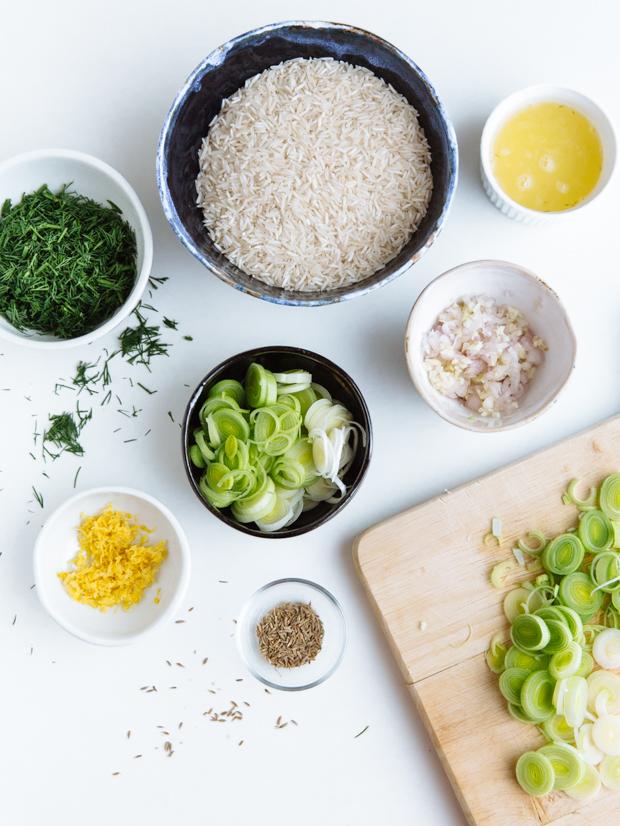 Spinach, dill & lemon basmati rice (spanakorizo)