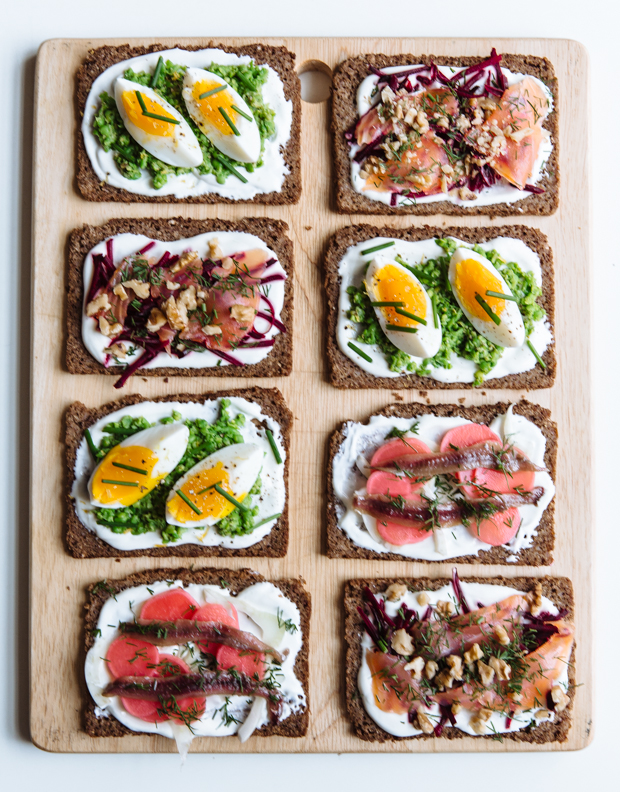 Nordic open-faced sandwiches