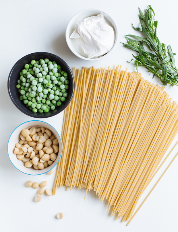 Mascarpone, pea & tarragon one-pot pasta