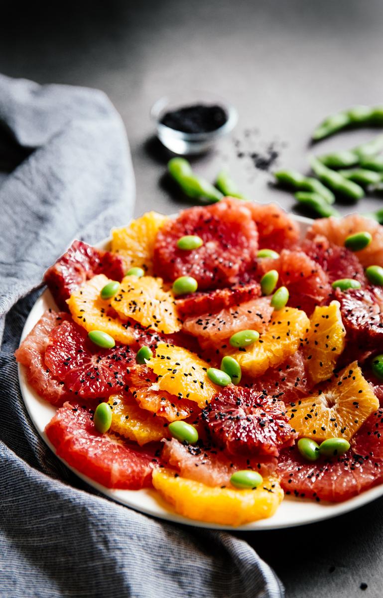 Citrus & edamame salad