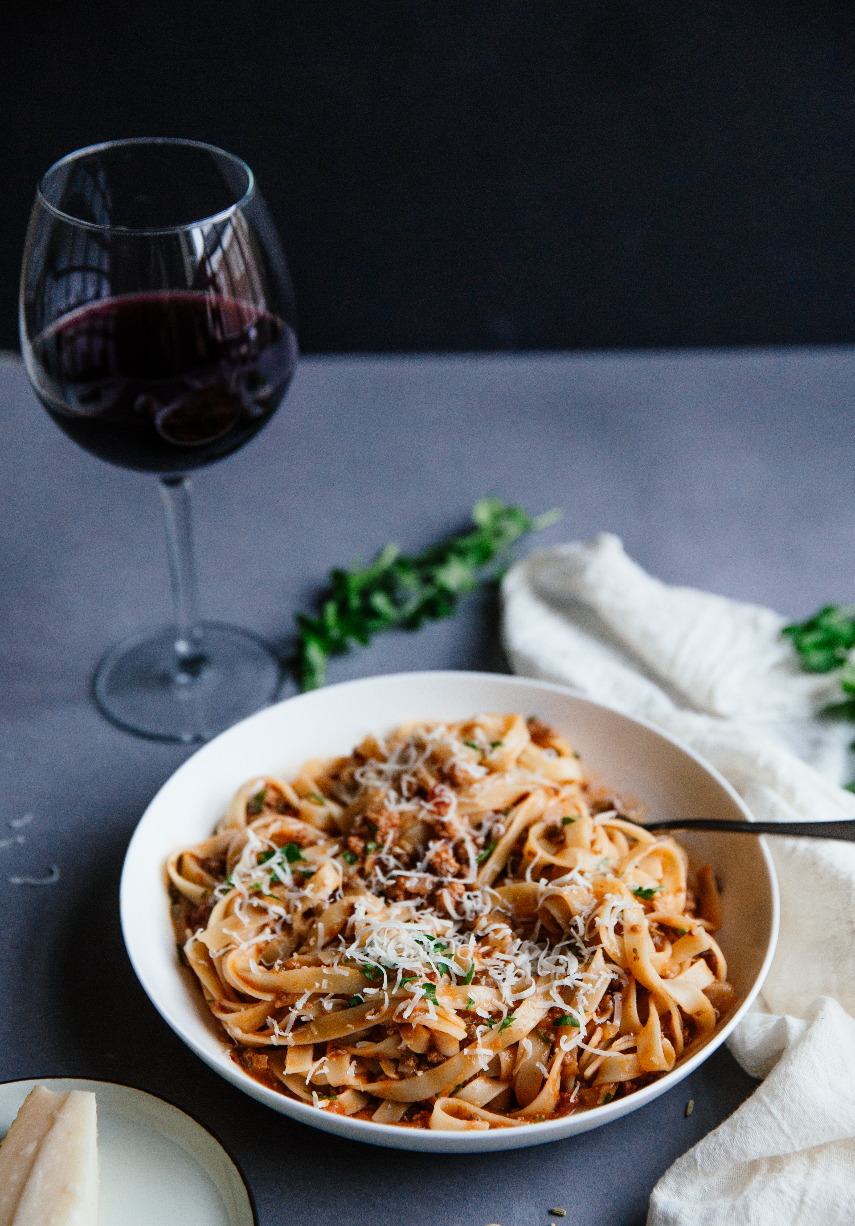 Sausage and porcini bolognese
