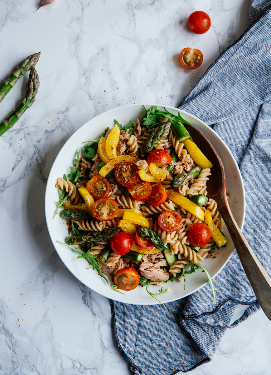 Asparagus & tuna pasta salad