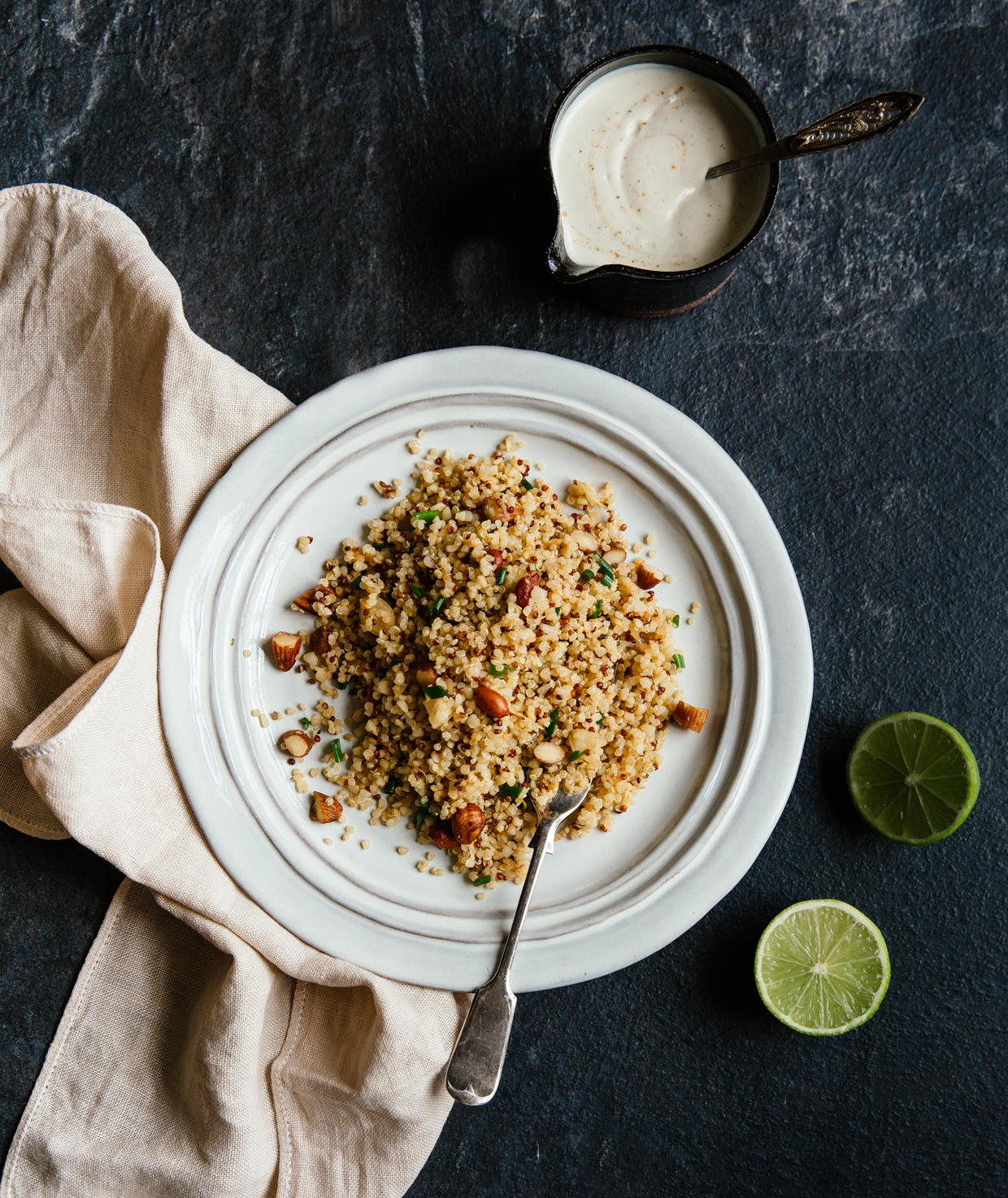 Ginger, lime & roasted nut quinoa