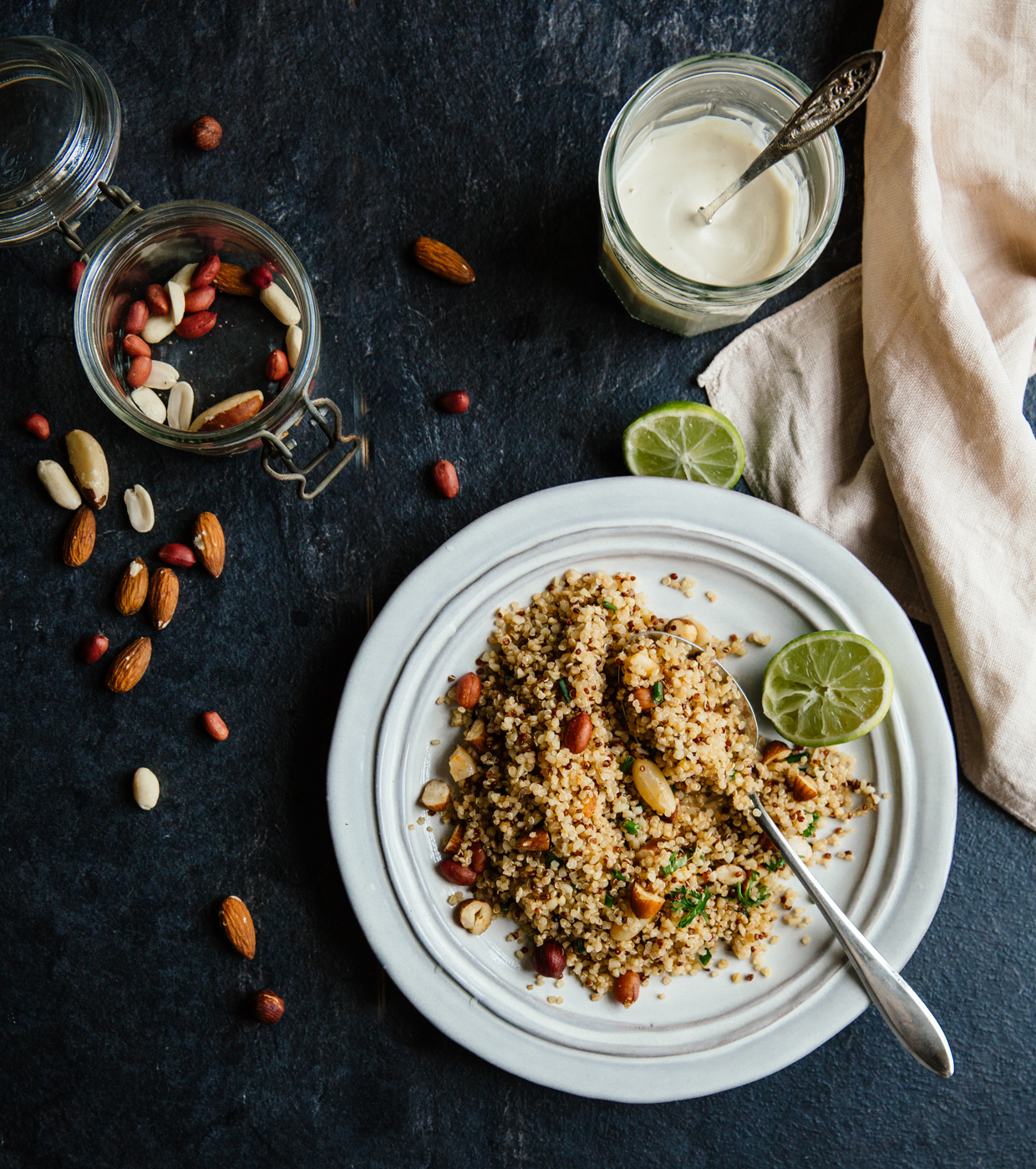 Ginger, lime & toasted nut quinoa