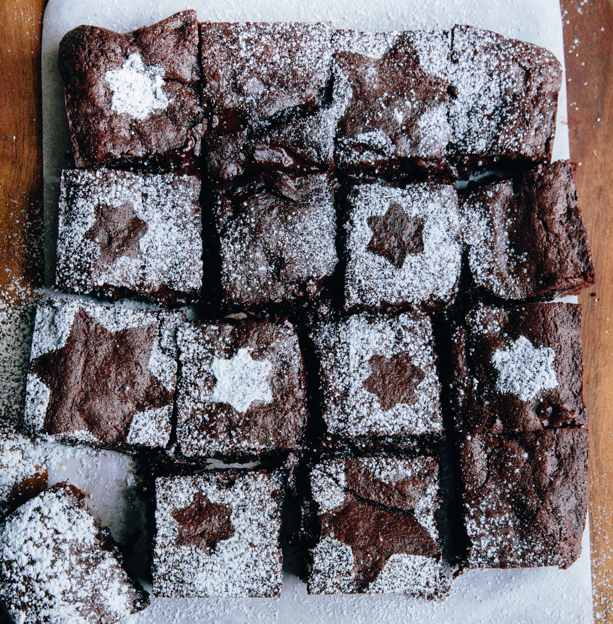 Cinnamon, clove & clementine dark chocolate brownies