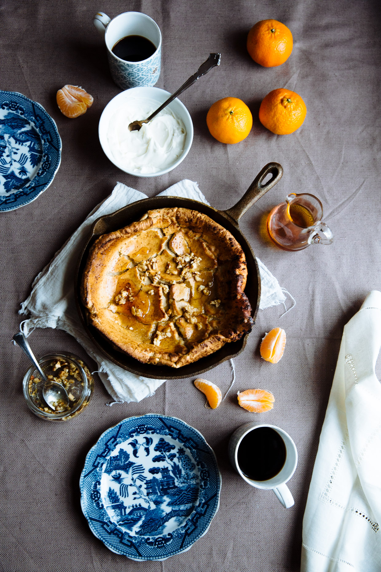 Spicy satsuma & maple Dutch baby
