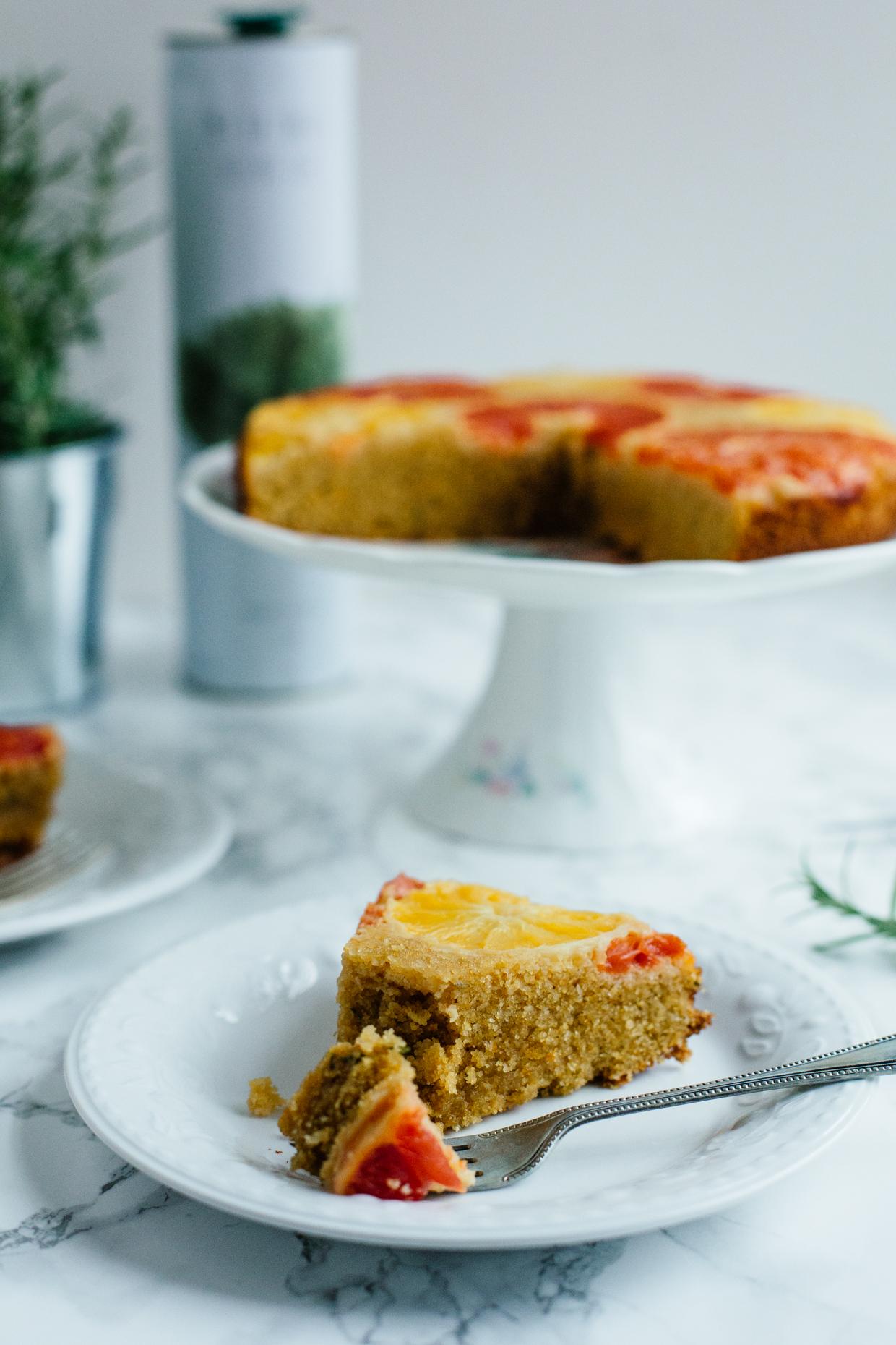 Citrus & rosemary olive oil polenta cake